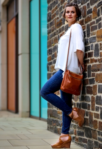 5 stylish and affordable summer weekend outfits- Blue jeans white blouse