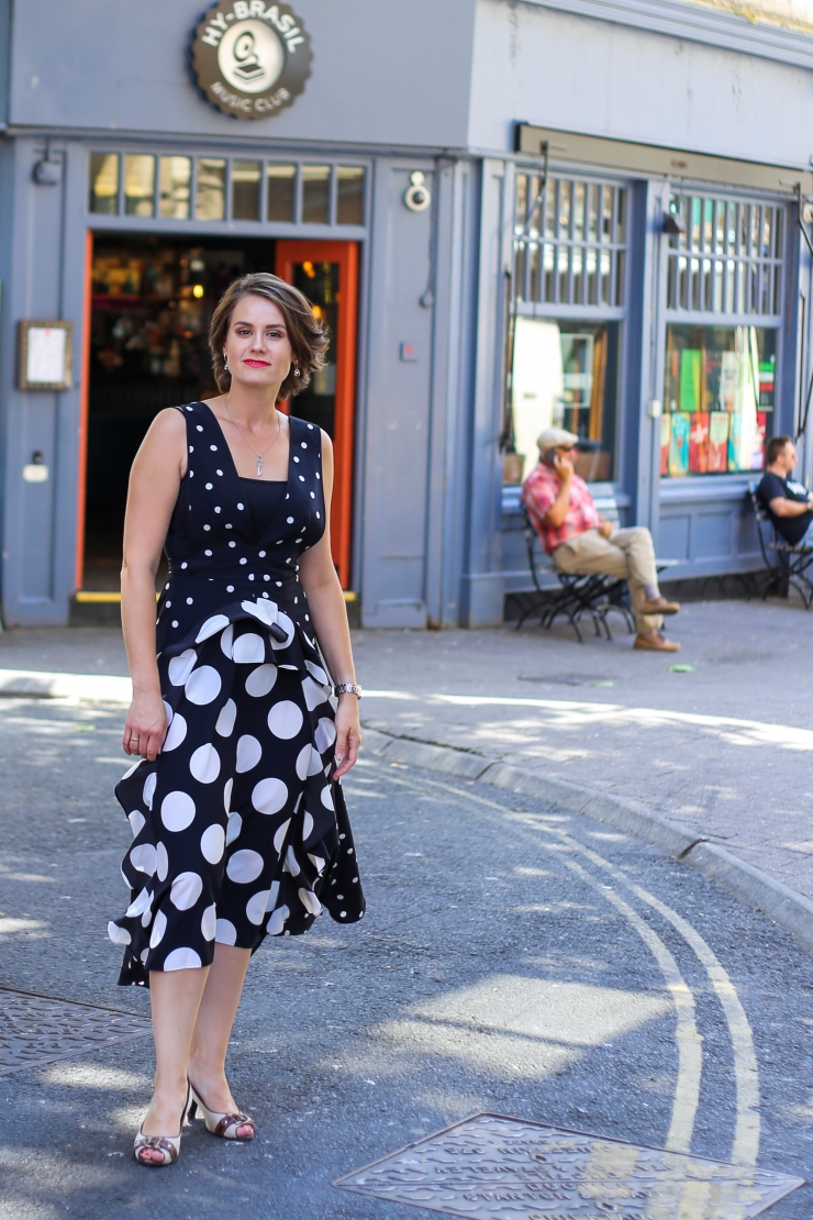 Mix spotted midi dress Topshop