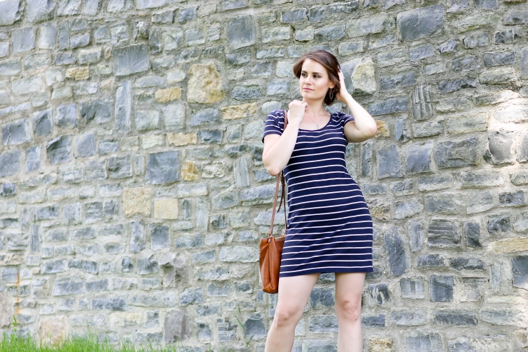 Striped sailor jersey dress