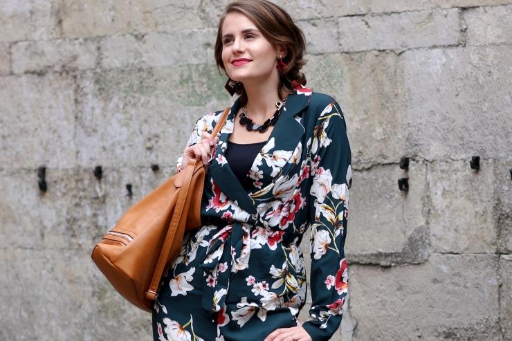 Autumnal floral jumpsuit - Shein