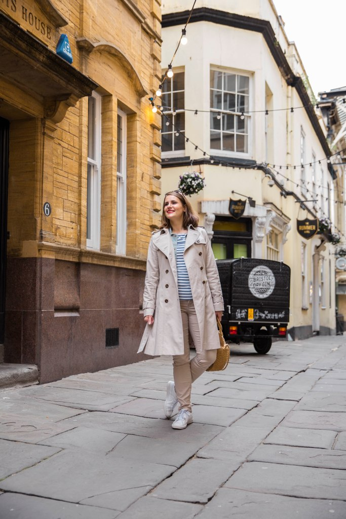Beige trench coat from Hobbs London